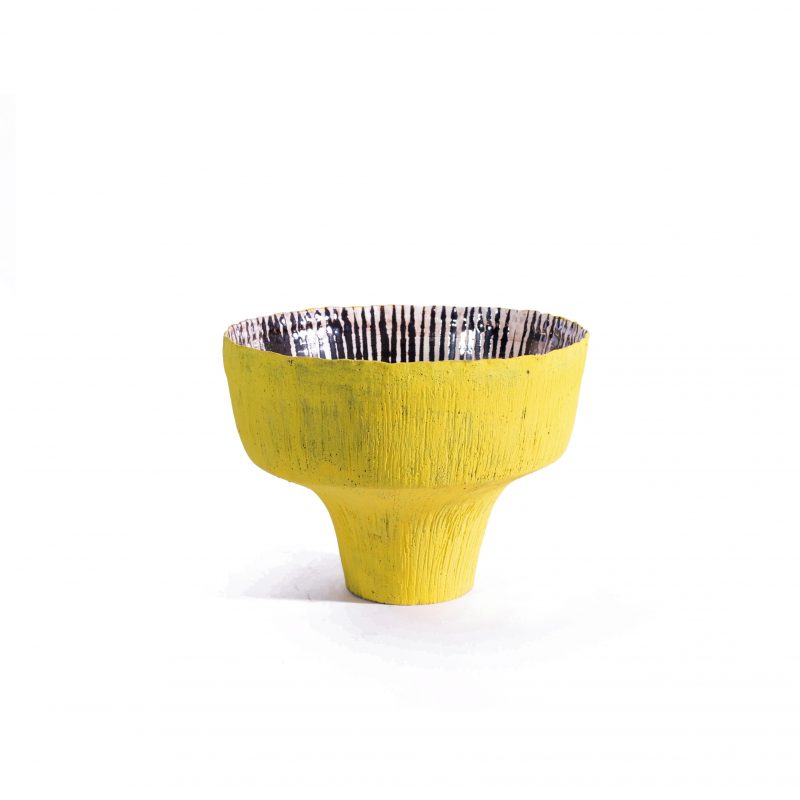 'Handpinched' Open Vase (Yellow)